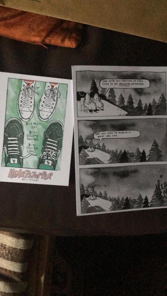 The Sad Ghost Club comic street and Heartstopper Artprint