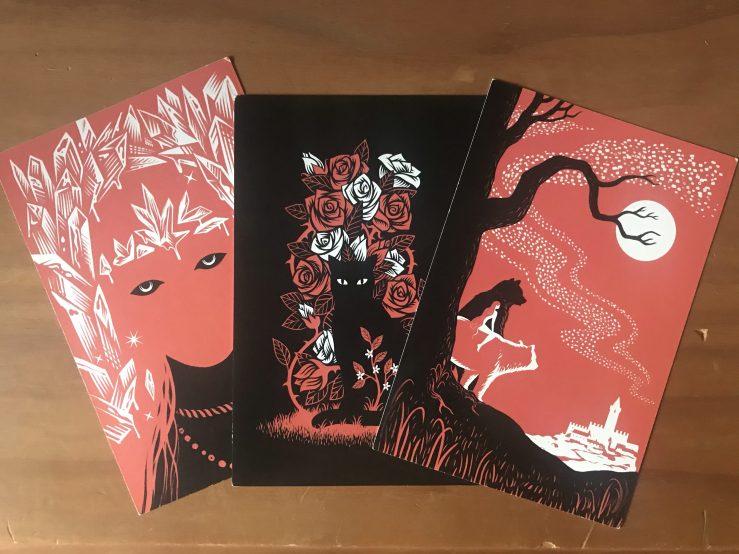 Tales of the Hinterland art postcards x3