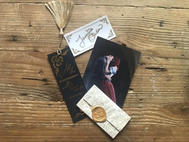 Book mark, art print, bookplate, and wax sealed letter