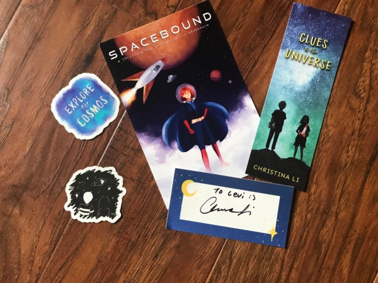 Clues to the Universe bookmark, art print, stickers, bookplate